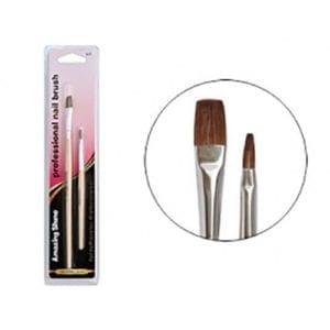 Amazing Shine Professional Nail Gel Brush 2pc Pack