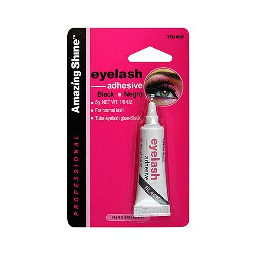 Amazing Shine Eyelash Glue Tube 5gm - Black (6 Pack)