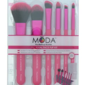 Moda - 7pc Total Face Flip Brush Kit (4pcs)