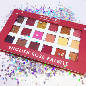 English Rose Palette Glitter Mirage Cosmetics