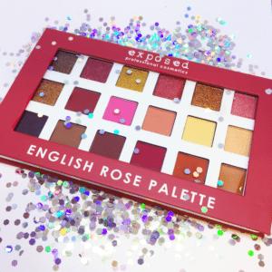 English Rose Palette Glitter Mirage Cosmetics