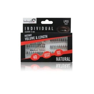 London Pride Individual Instant Volume & Length Natural Lashes (Cluster 12mm) (LP33)