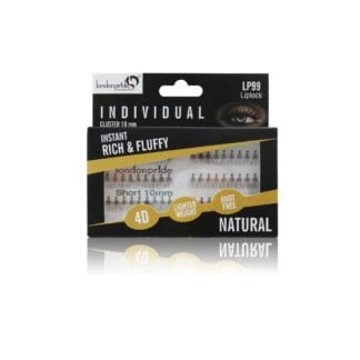 London Pride Individual Instant Rich & Fluffy Natural Lashes (Cluster 10mm) (6pcs)