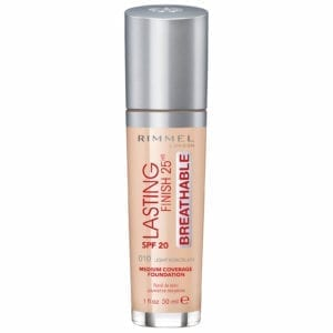 Rimmel Lasting Finish 25 Hour Breathable Foundation (3pcs) (6 Shades)
