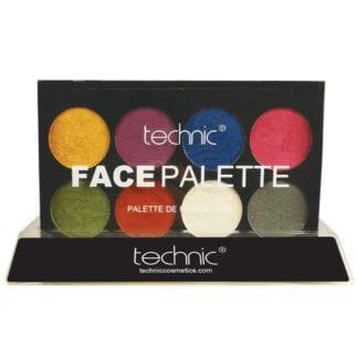 Technic Metallic Face Paint Palette (12 pcs) (29709)