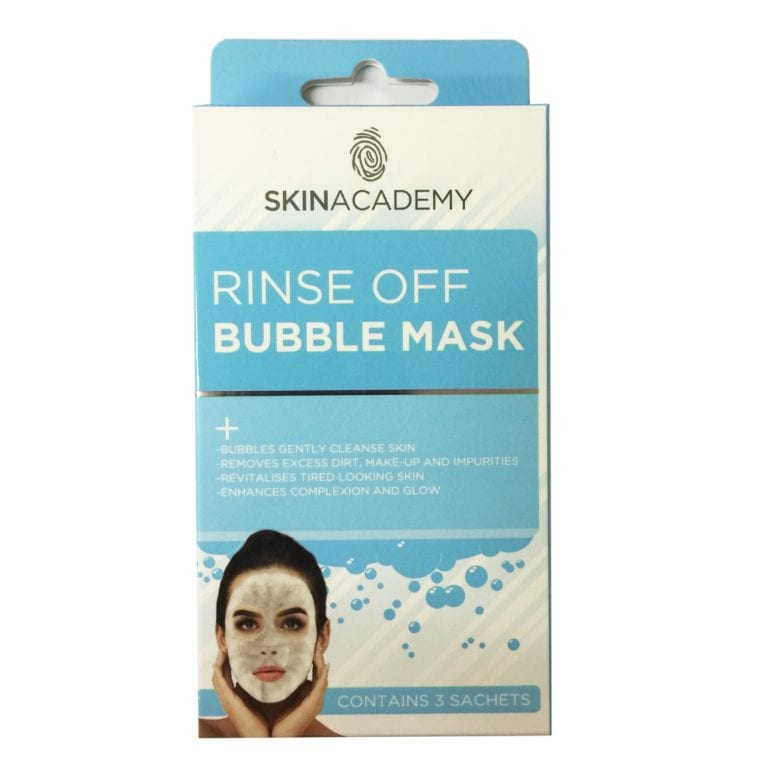 Skin Academy Rinse Off Bubble Mask (12pc)