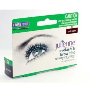 Julienne Eyelash & Brow Tint - Dark Brown (1pc)