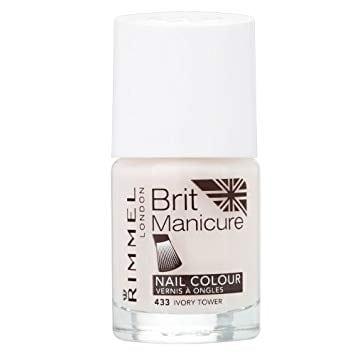 Rimmel Brit Manicure Nail Colour - 433 Ivory Tower 12ml (2pcs)
