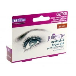 Julienne Eyelash & Brow Tint (Includes Free Brush) – Light Brown
