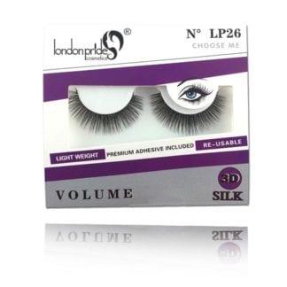 London Pride 3D Silk Volume Eyelash (LP26) (6pc)