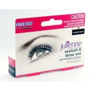 Julienne Eyelash & Brow Tint - Midnight Black (1pc)