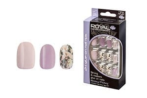 Royal 24 Rosy Posy Nail Tips with 3g Glue (6pcs) (NNAI242)