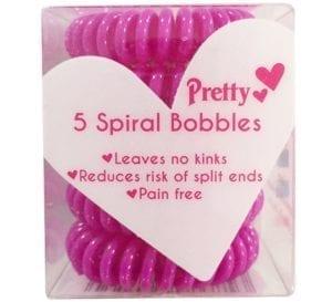 Pretty - Spiral Hair Bobbles - Pink/Purple (24pc)