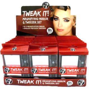 W7 Tweak It! Magnifying Mirror & Tweezer Set (24pc)
